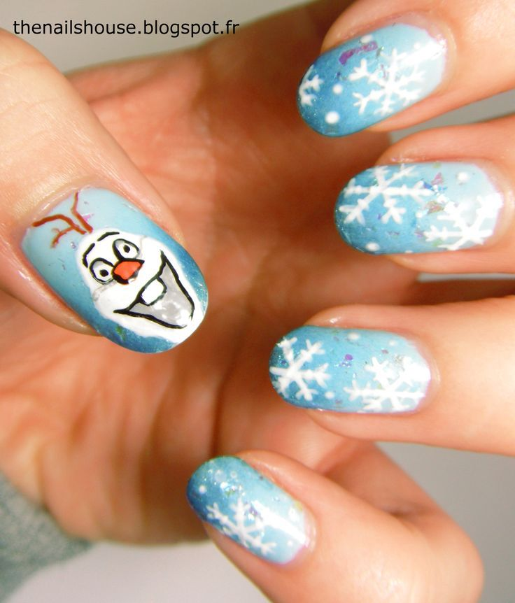 FROZEN gel nails - FROZEN Gel Nails Disney FROZEN Pinterest Disney Nails