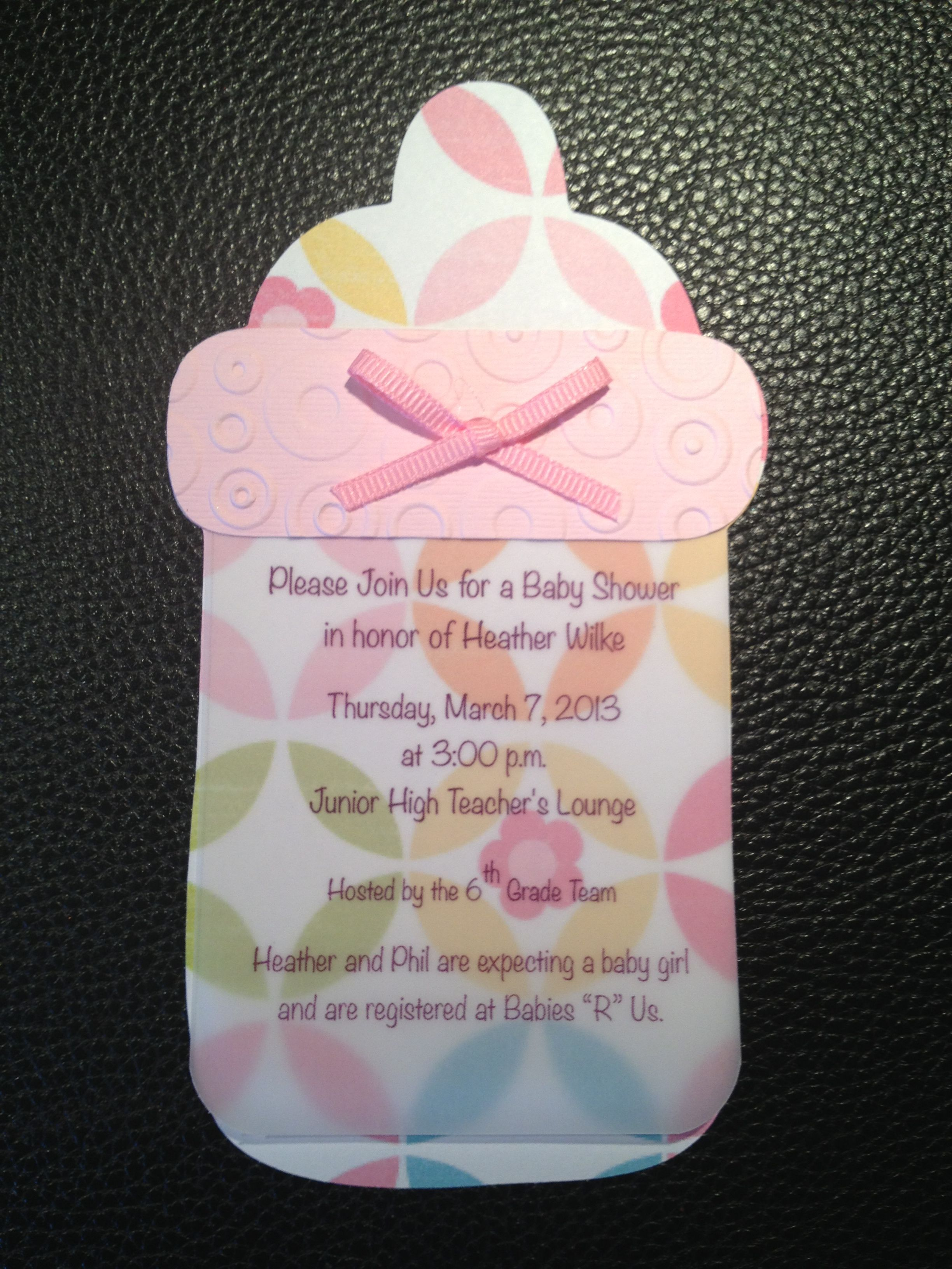 Baby Shower Invitation I Made For A