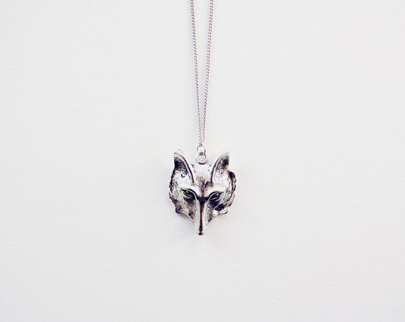 Bohemian Wolf Pendant in Tibetan Silver - Native American Coyote Necklace - Fox Face - Woodland Animal & Tribal Jewellery