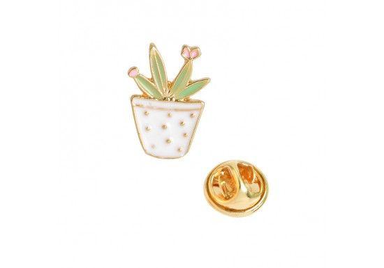 magasin Style classique dernière vente Pin's plante verte doré et émaillé. Craquez pour cet ...
