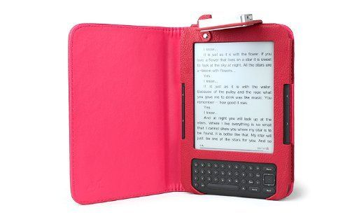 Accessorise Kindle Keyboard Battery Led Lighted Leather Kindle Case Fits Kindle Keyboard 3g Kindle 3rd Generation Mag Kindle Case Amazon Kindle Reading Light
