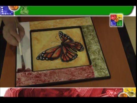 MANOS CREATIVAS MARIPOSA TEXTURA - YouTube