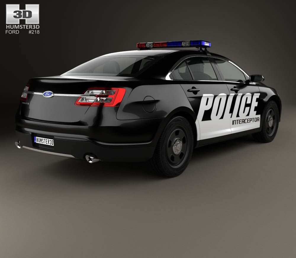 3d Model Of Ford Taurus Police Interceptor Sedan 2013 Interceptor Ford Police Taurus
