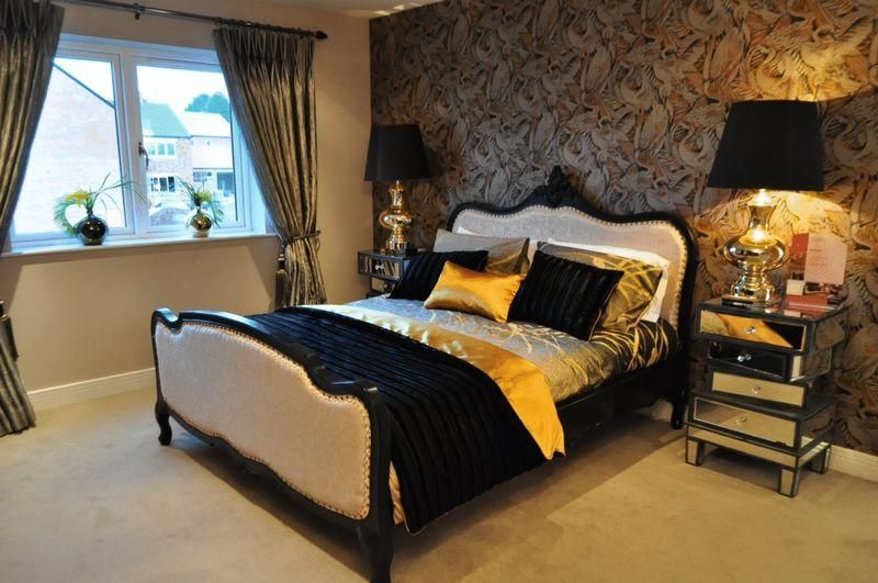 bedroom ideas black and gold | design ideas 2017-2018 | pinterest