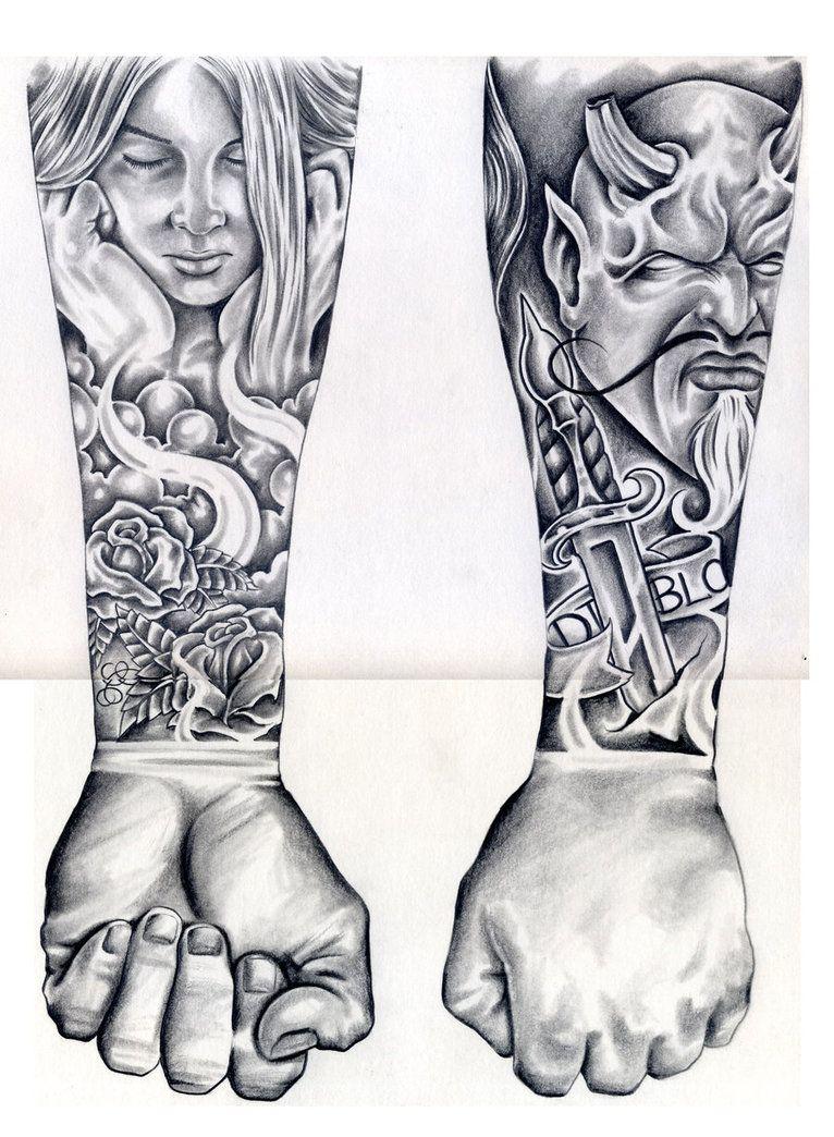 403 Forbidden Chicano Art Tattoos Half Sleeve Tattoos Drawings Pencil Art