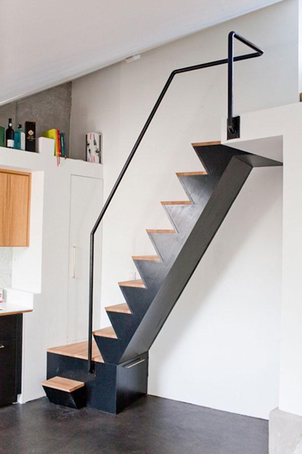 Decorar un duplex de 50m2 escaleras pinterest corrim o de escada modelos de escadas y escadas - Escaleras para duplex ...