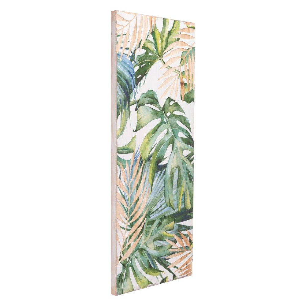 Zm home tropical rectangular wall art green in products