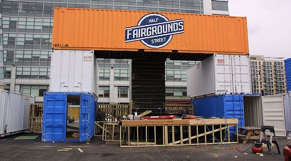 Half Street Fairgrounds in Washington, DC built with Shipping Containers
