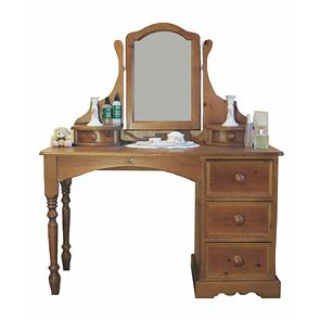 Classic Pine Ruskin Dressing Table With Mirror