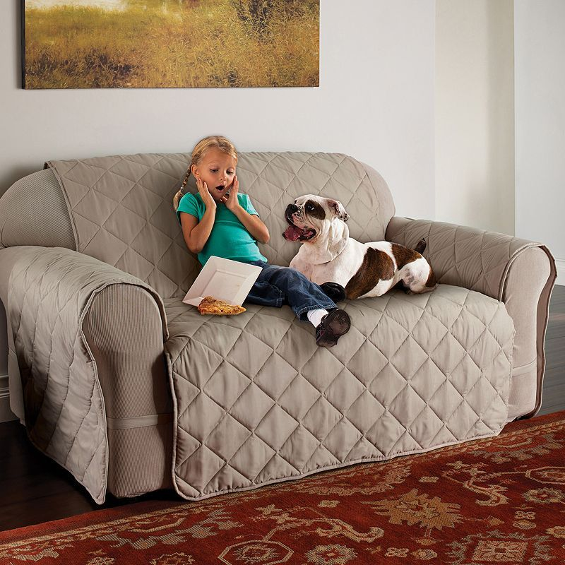 Innovative Textile Solutions Microfiber Ultimate XL Sofa Protector, White