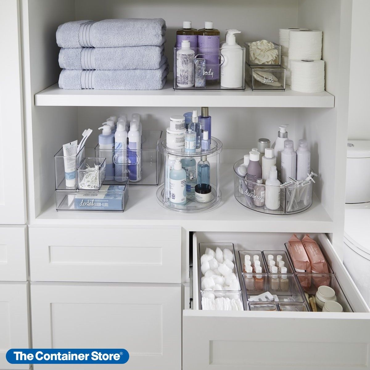 Our Exclusive Storage Collection From The Home Edit Is The Ideal Organization Solution For In 2020 Bathroom Organization Diy Diy Bathroom Storage Bathroom Organisation