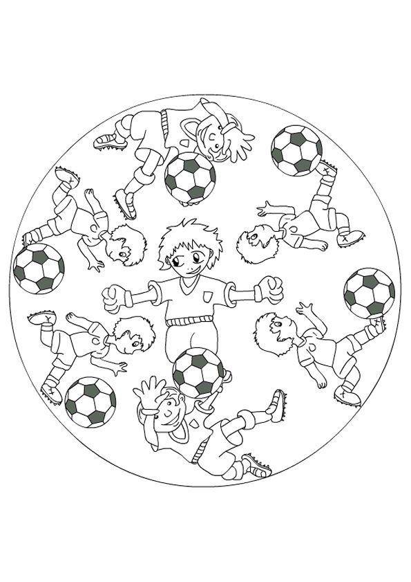 Kleurplaten Voetbal Ek 2019.Kleurplaat Mandala Kleurplaten 5179 Voetbal Mandalas Sports