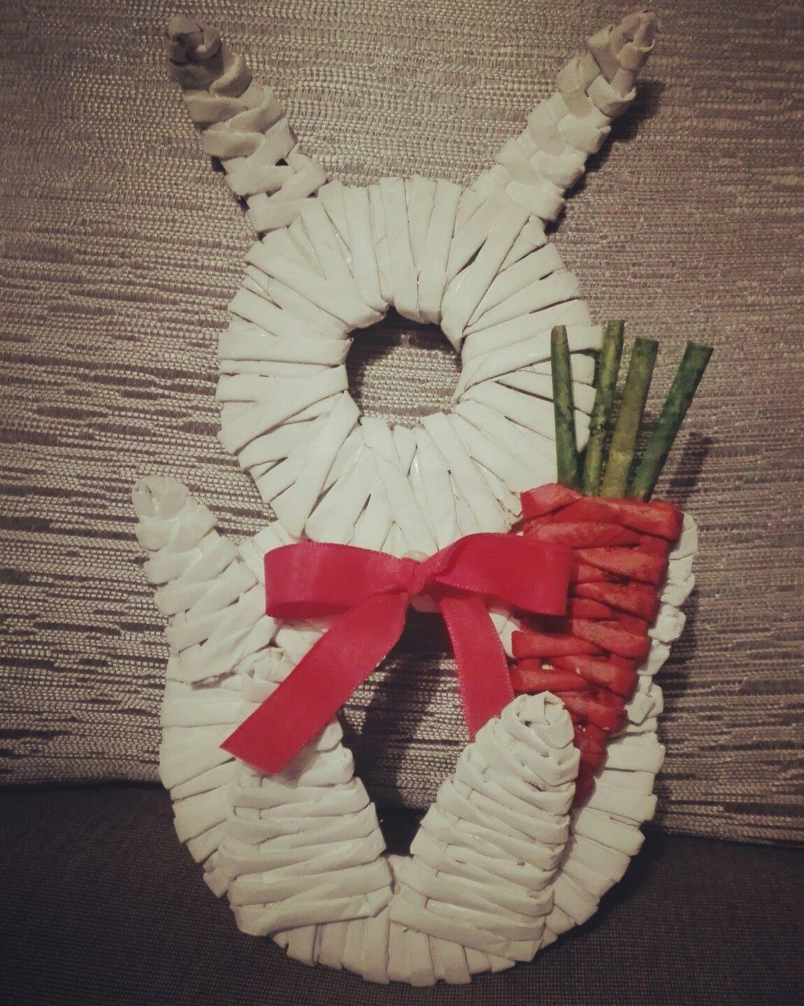 83e46d6a8 Veľkonočný zajačik | Papierové pletenie :-)