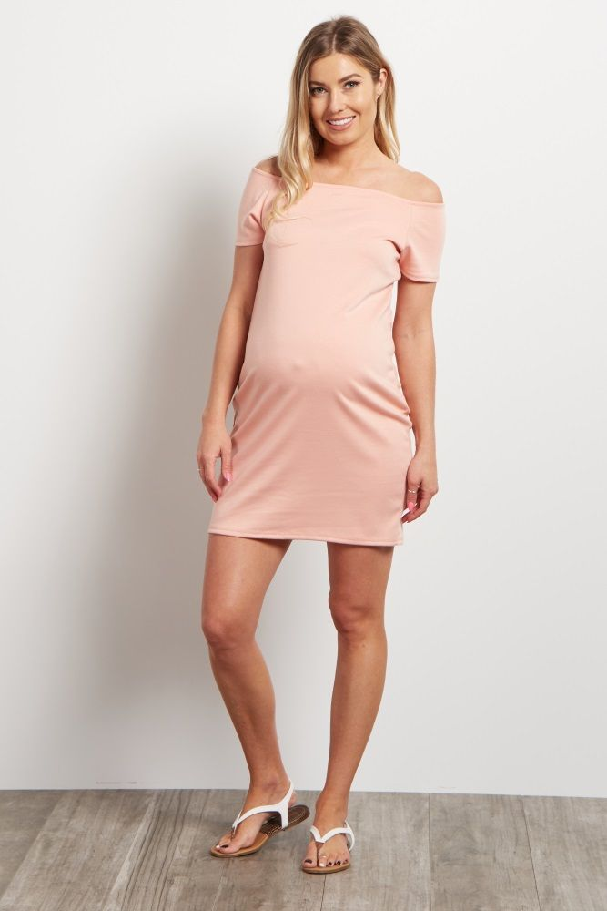 94cc8359be7 This solid maternity dress is the essential you need to keep cool in all  summer long. A fitted style shows off your bump beautifully