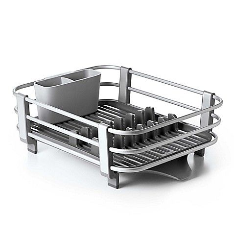 Oxo Good Grips Aluminum Dish Rack With Images Dish Racks