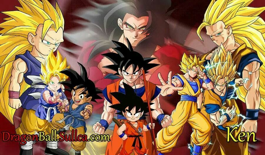 amazing goku all his forms and transformations dragon ball z gt