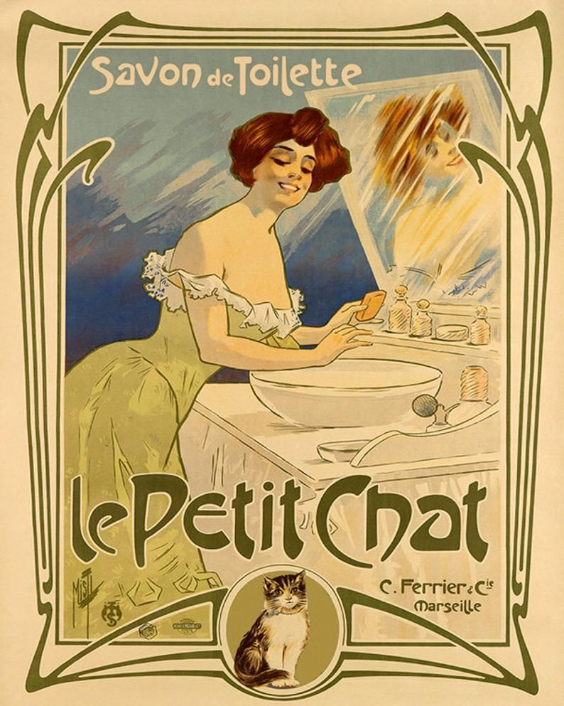 Soap 16x20 Savon Toilette Le Petit Chat Cat Etsy In 2021 Vintage French Posters Vintage Posters Vintage Advertising Art