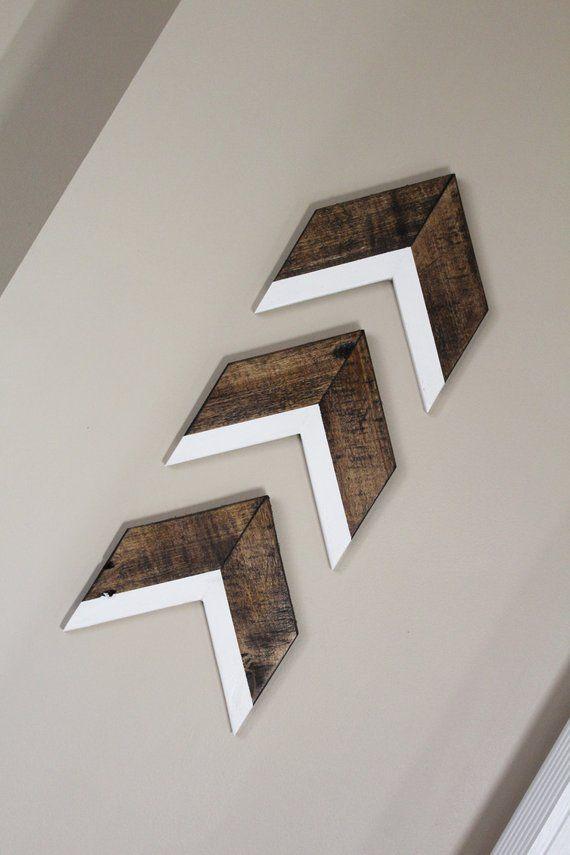 Set of 3 Arrows | Arrow Wall Decor Trio | Chevron Wall Decor | White Arrows #woodenwalldecor