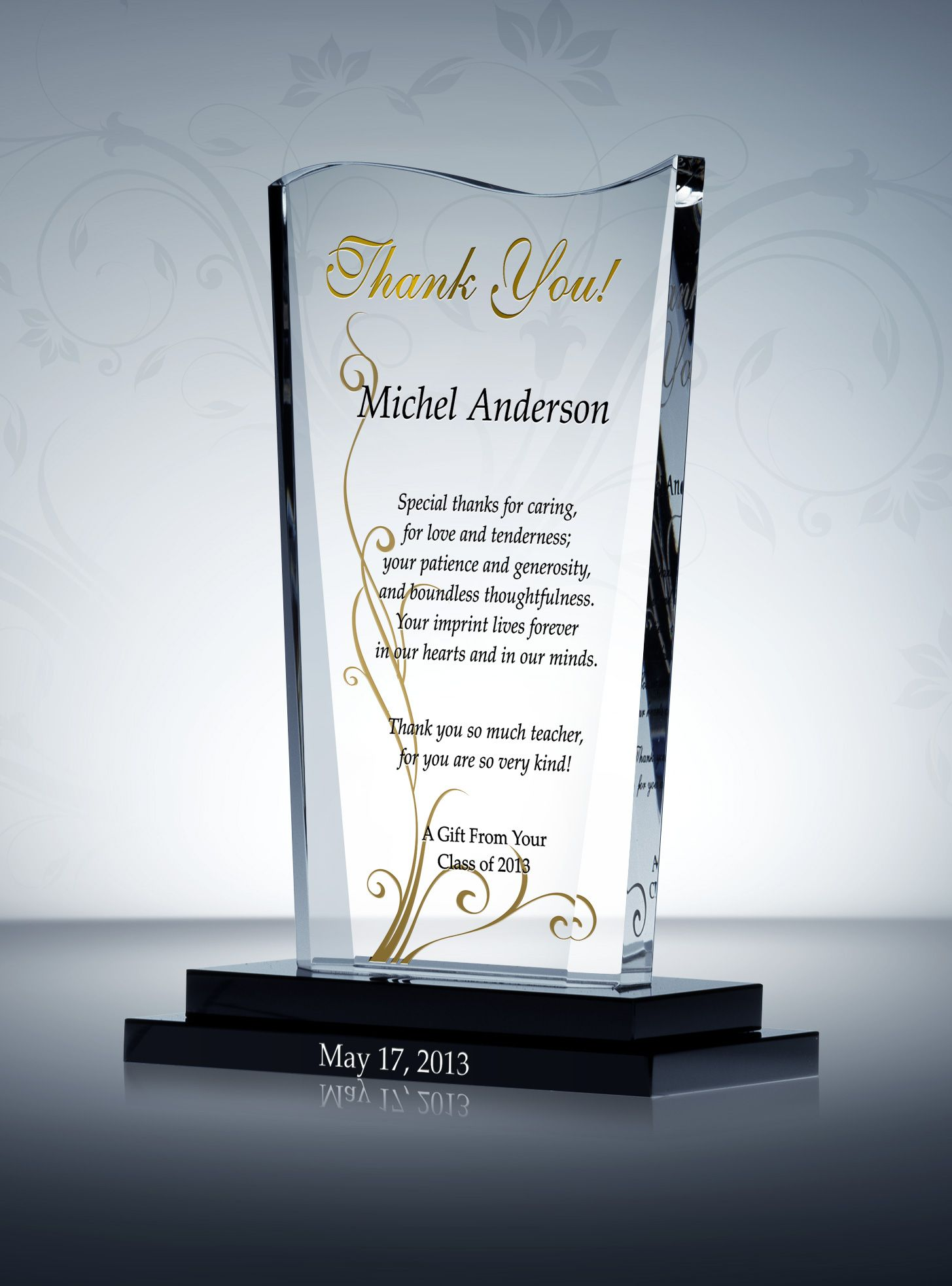End Of Year Teacher Gift From Class Award Plaques Write