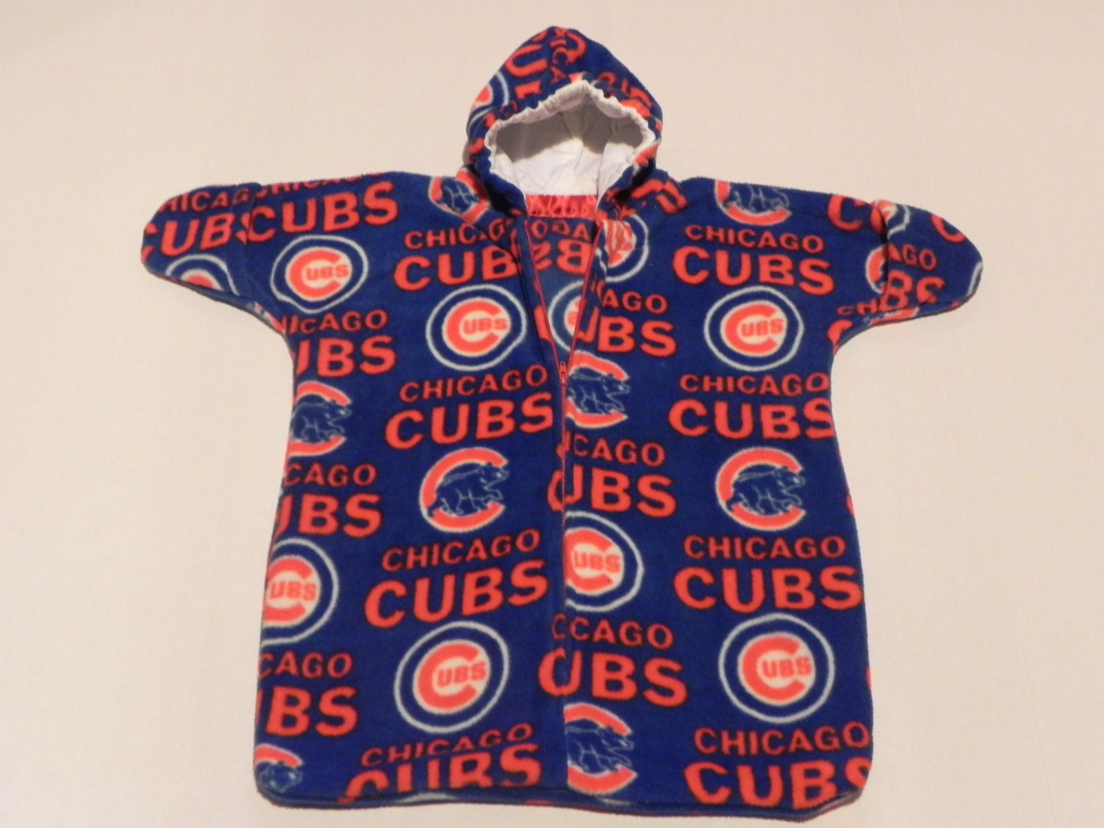 Outerwear Nhm Mlb Chicago Cubs Printed Fleece Baby Bunting