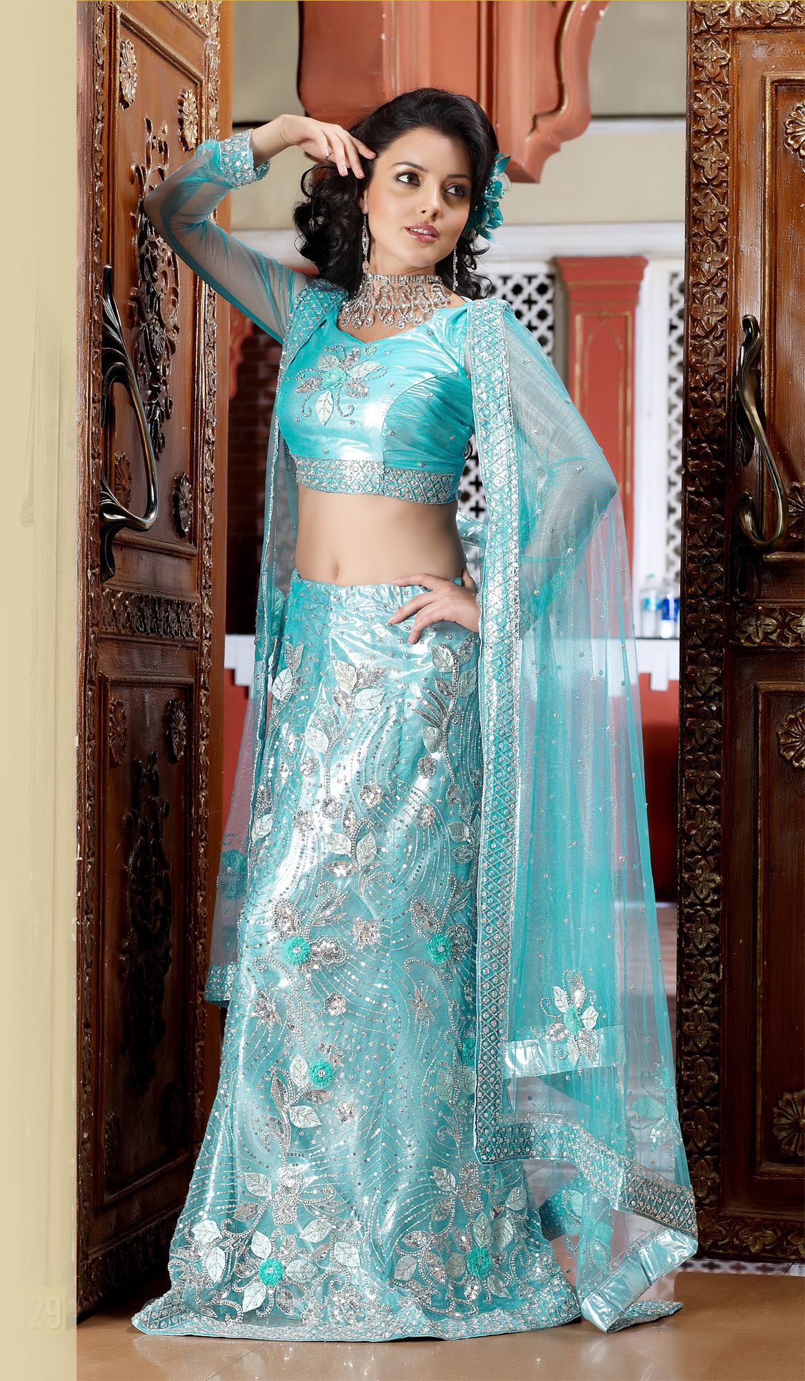 Sky Blue Wedding #Designer #Saree | South Asian Fashion | Pinterest ...