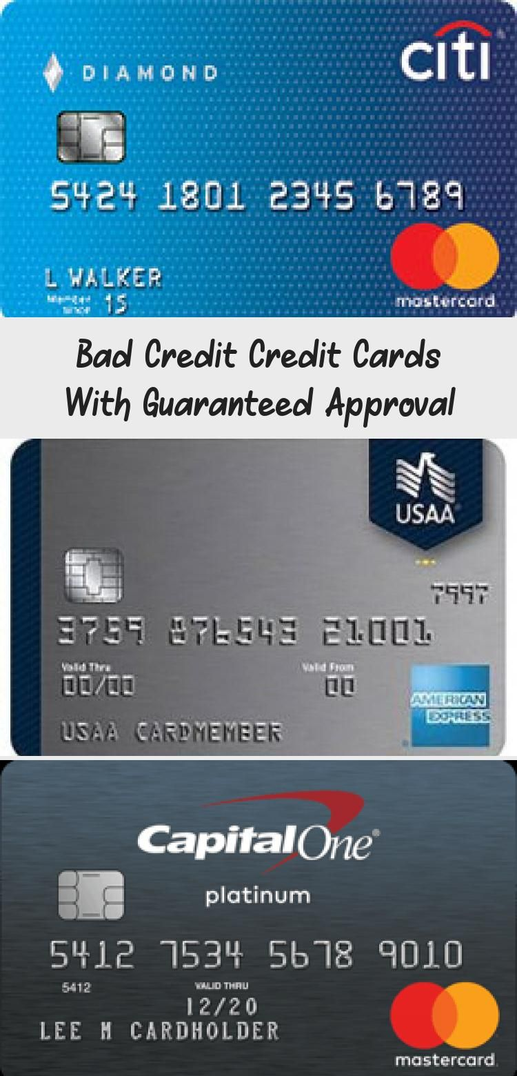Bad Credit Credit Cards With Guaranteed Approval Credit Score