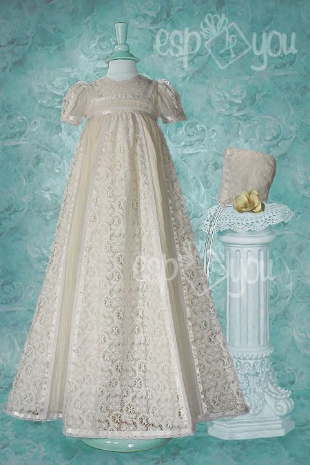 Ivory Victorian Lace Heirloom Christening Gown