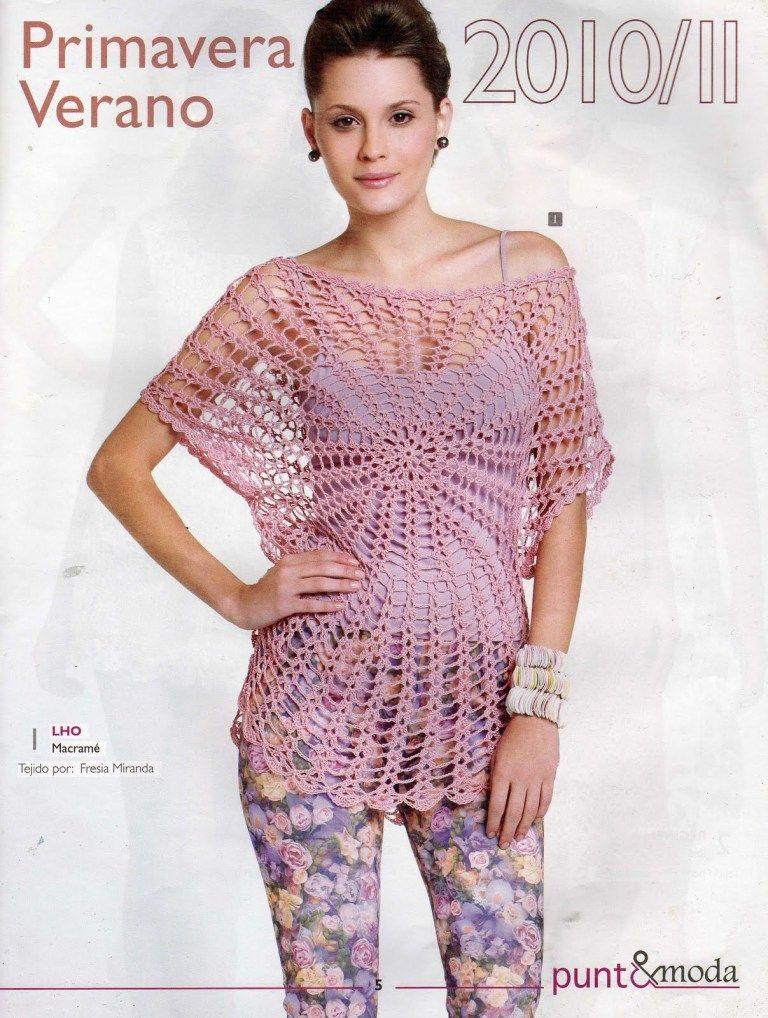 Blusa rosa – Mi Rincon de Crochet