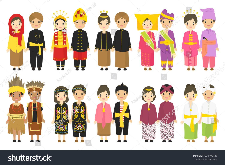 Gambar Pakaian Adat Daerah Indonesia