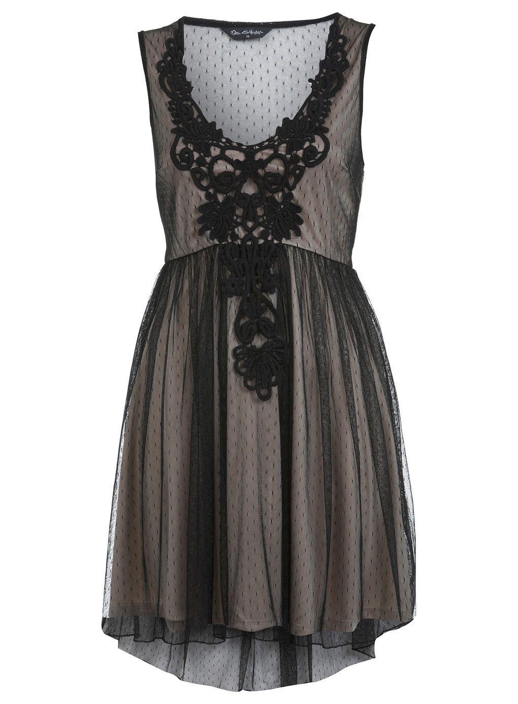 Crochet Trim Spot Dress