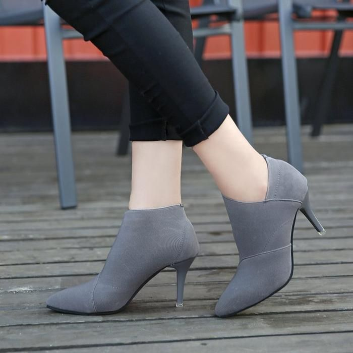 dc0aa0583c Fashion Chic Pointed Toe Ankle Boots | Women Shoes | Pinterest ...