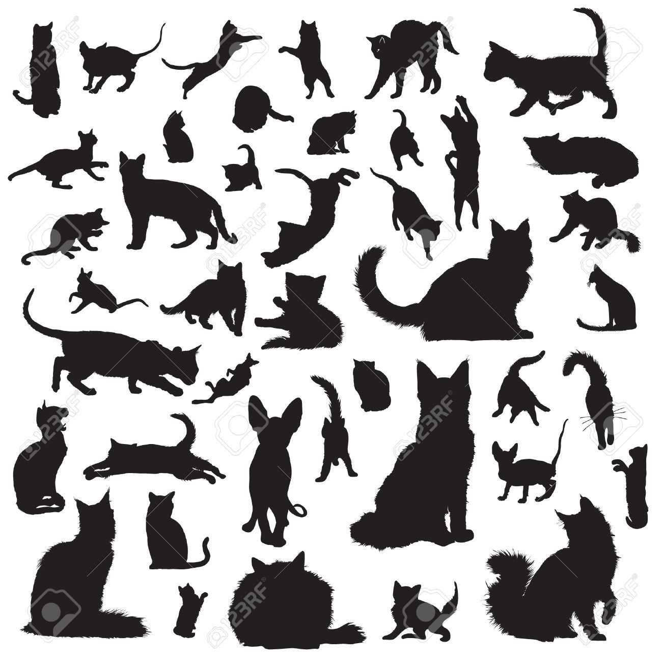 Image result for cat silhouette reaching up Silhouette