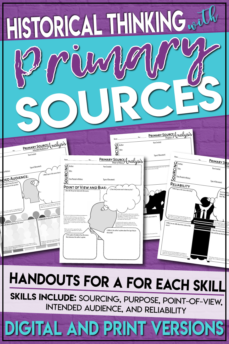These Handouts Are Designed To Help Students Hone Their Historical Thinking Skills Mor Teaching History High School Historical Thinking Skills Teaching History