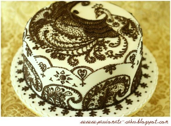 Mehndi Cake Toppers : Henna peacock engagement cake by man kwan of passionate cakes
