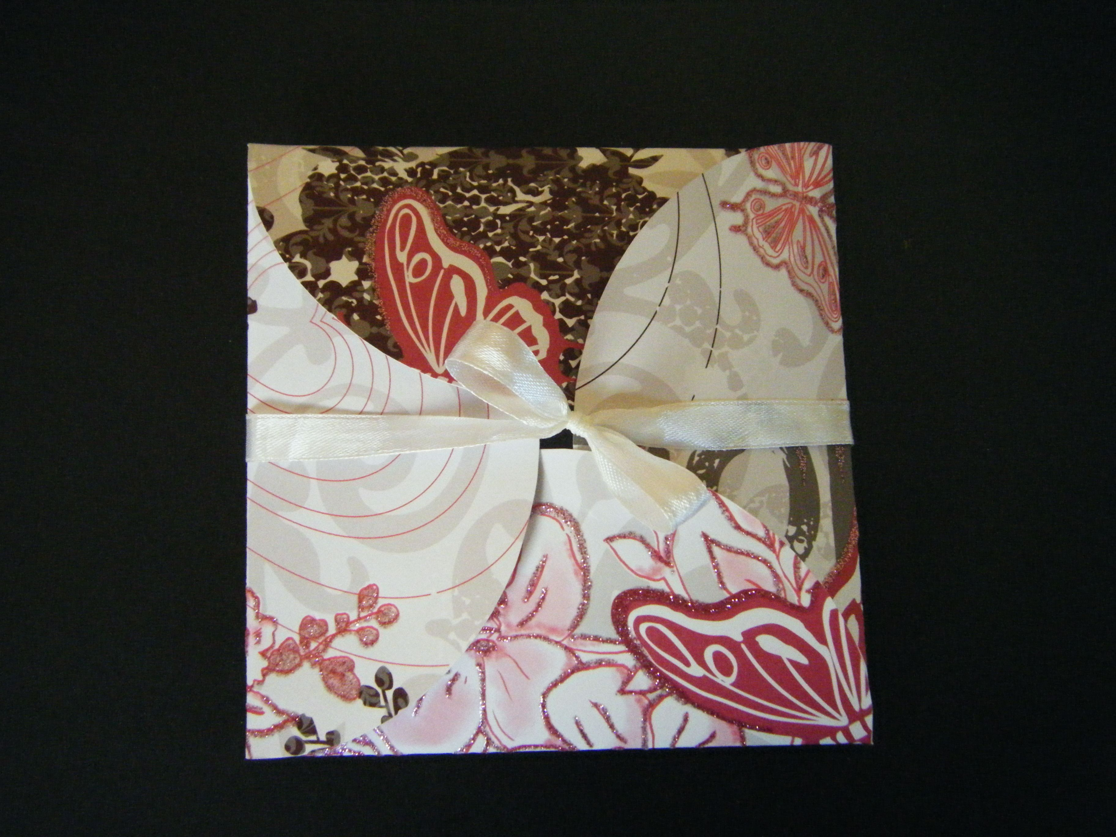Butterfly Wrap Wedding Invitation .