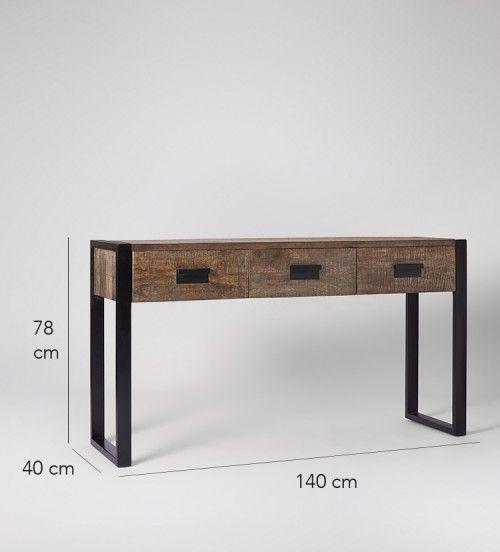 Fletcher terrazas muebles hierro y madera muebles for Muebles de diseno industrial