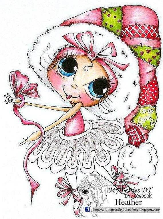 INSTANT DOWNLOAD Digital Digi Stamps Big Eye Big Head Dolls NEW Bestie Img778 My…