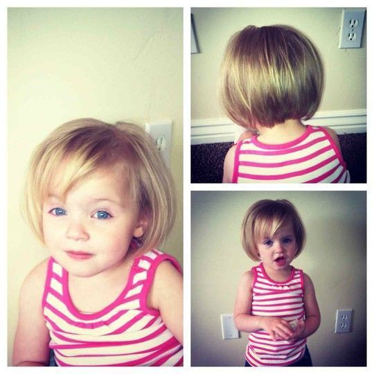 Nice Toddler Girl Haircut. Little Girl Haircut. Bob.
