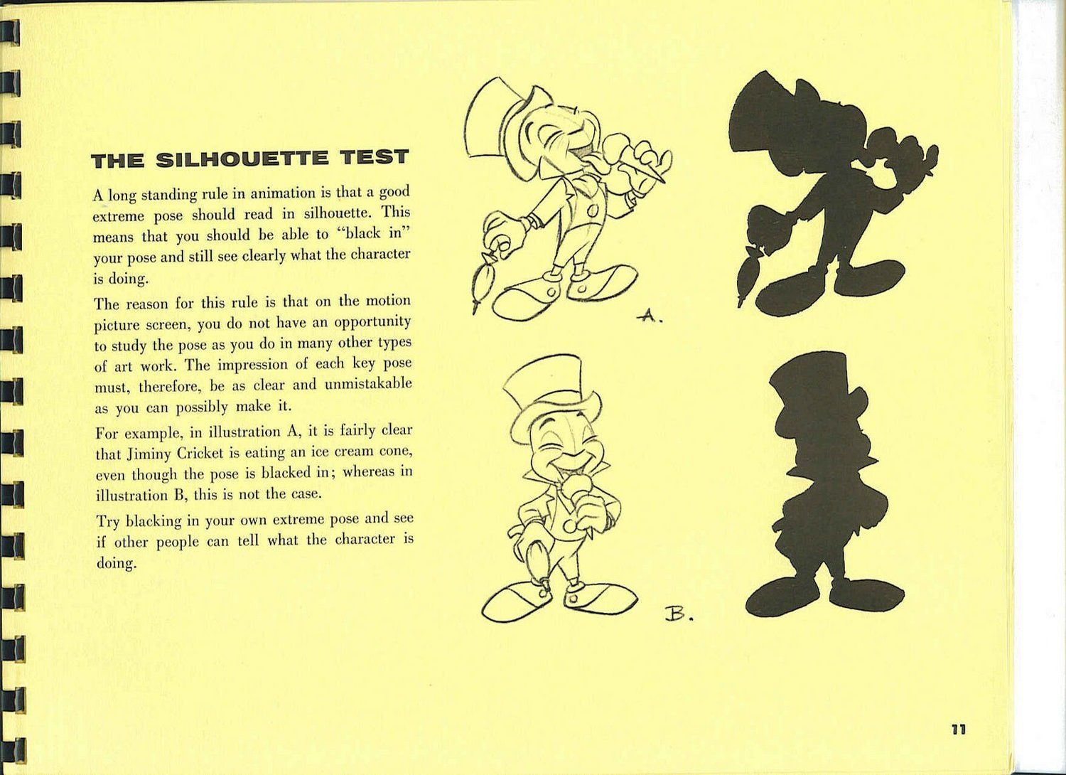 Walt Disney's Tips on Animation- Silhouettes | Walt Disney's