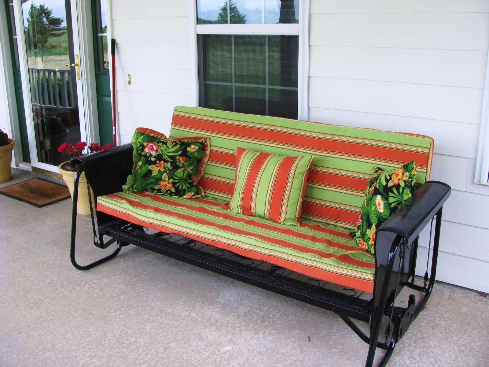 Porchgate Amish Made Mission 3 Seater White Porch Glider Porch Glider White Porch Outdoor Glider