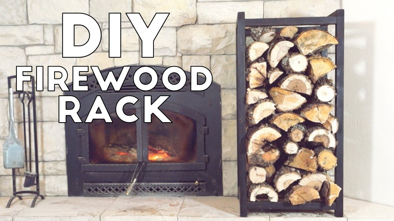 Build A Simple Modern Indoor Fire Wood Rack | Modern Builds | EP. 54