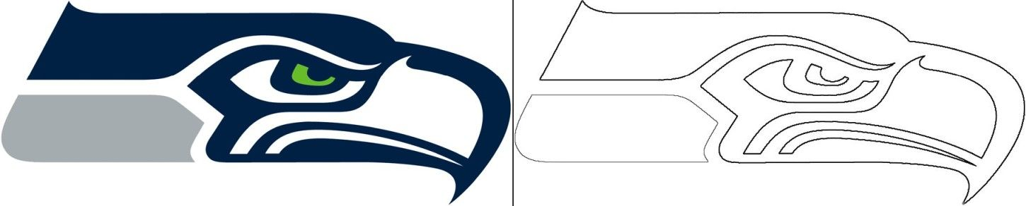 Seahawks Logo Coloring Page In 2020 Seattle Seahawks Logo