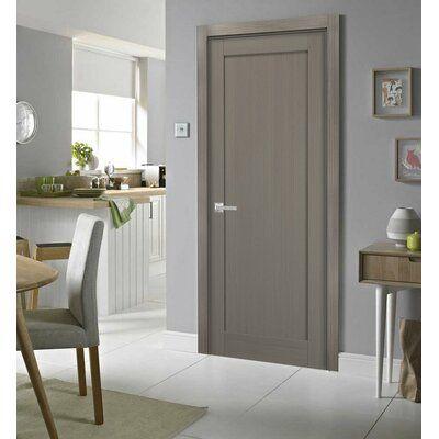 Sartodoors Paneled Solid Manufactured Wood Quadro Standard Door Size 24 X 96 Finish Ash Gray In 2020 Doors Interior Interior Internal Doors