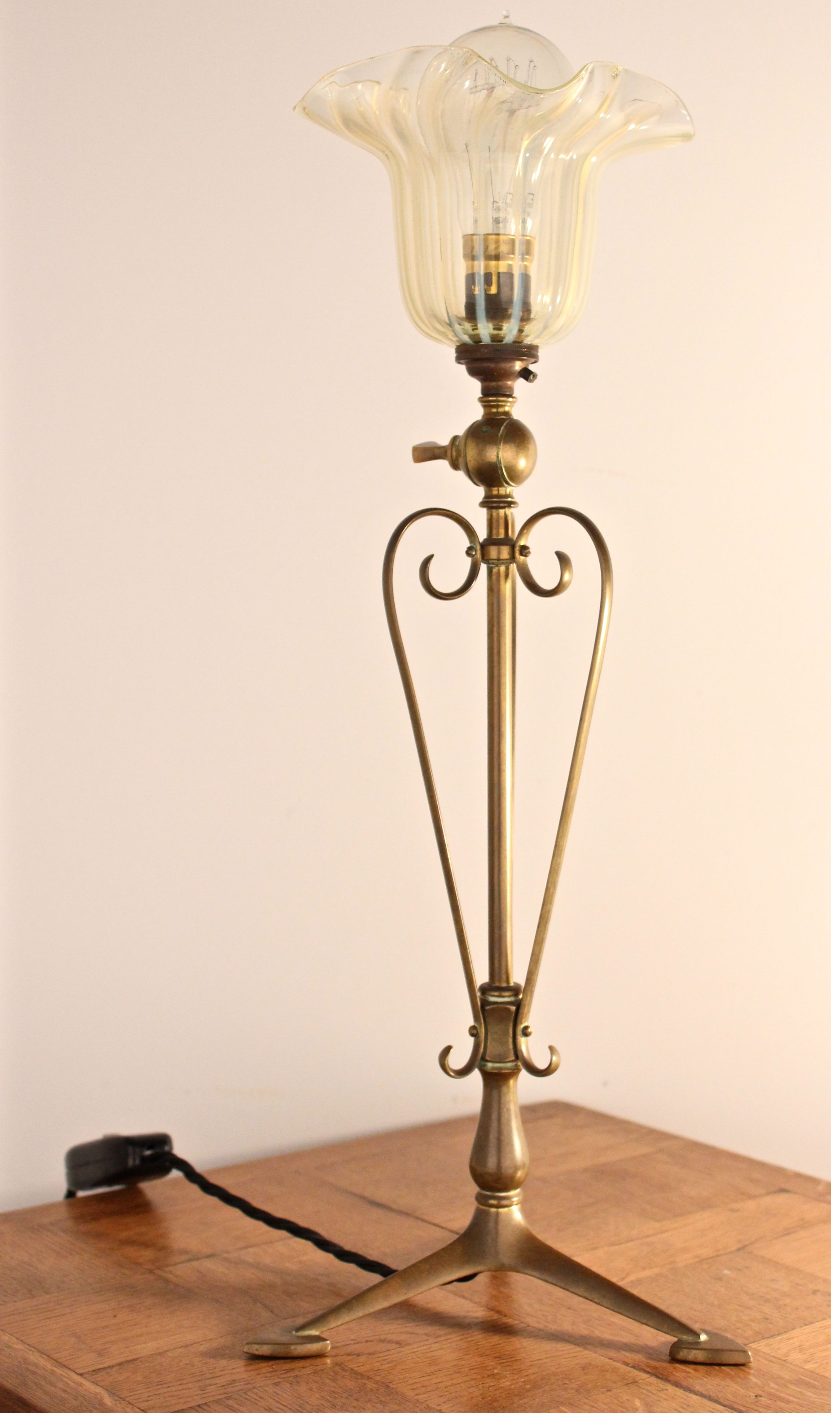 Matching floor and table lamps - Arts Crafts Was Benson Tripod Brass Table Lamp A Superb Quality Antique Arts