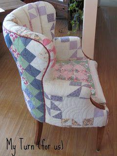 Patchwork Quilt Chair Patchwork Furniture Reupholster Furniture Patchwork Chair