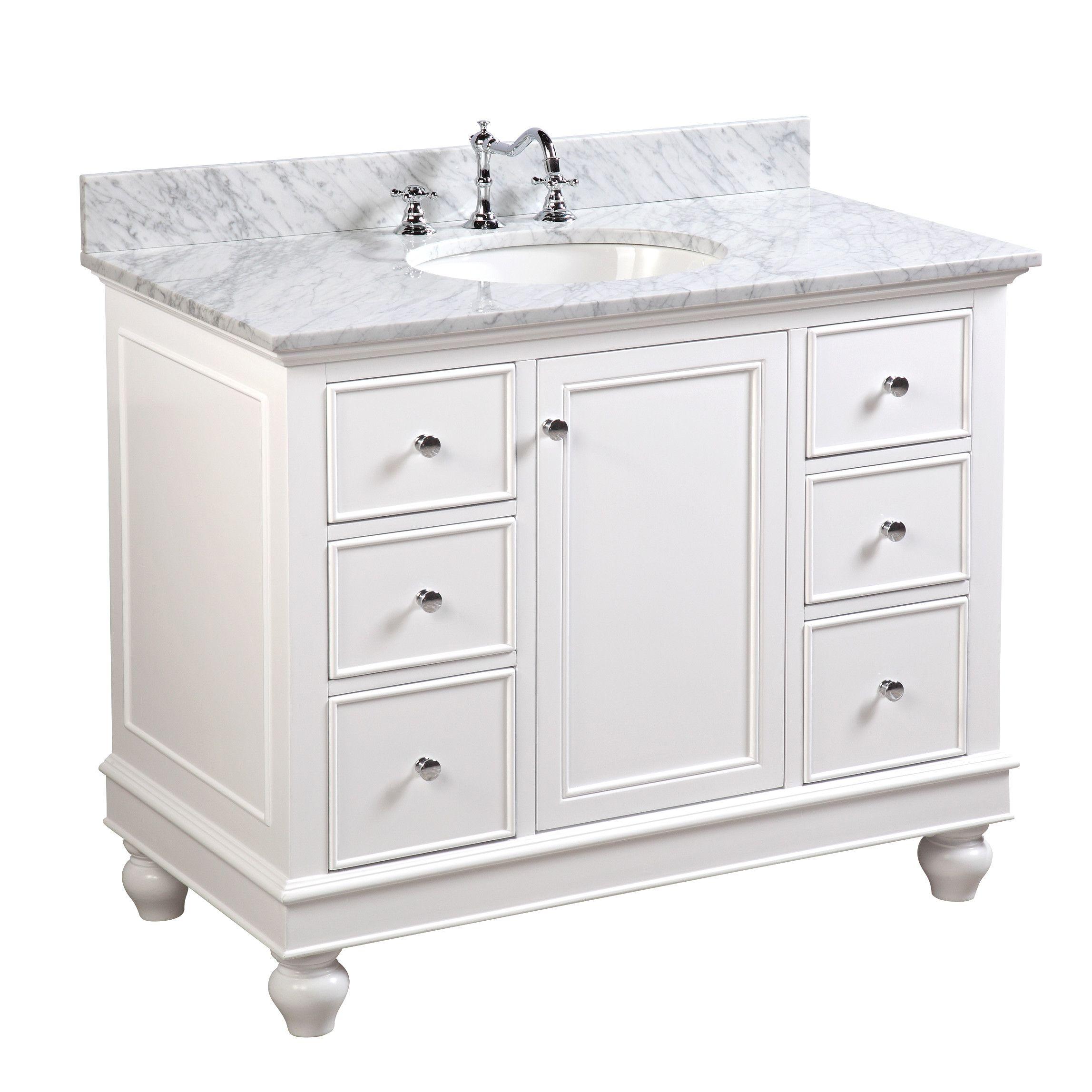 "Weatherwax 10"" Single Bathroom Vanity Set  10 inch bathroom"