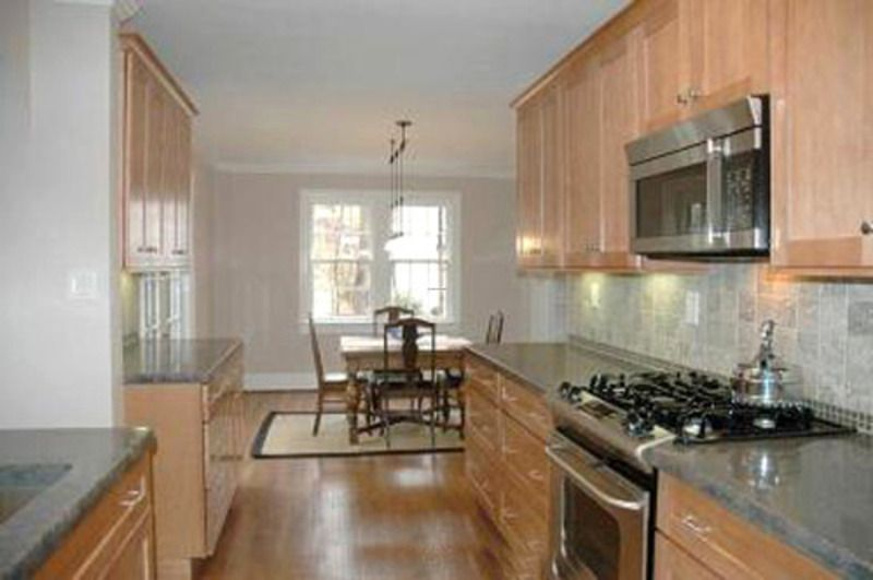 Opening up a galley kitchen part 4 home remodeling for Kitchen remodel open to dining room