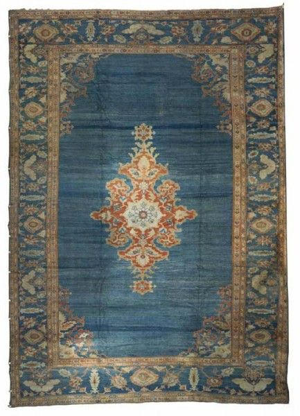Lot 813, ZIEGLER SULTANABAD CARPET, Persia, circa 1875. Grogan's February Auction including carpets