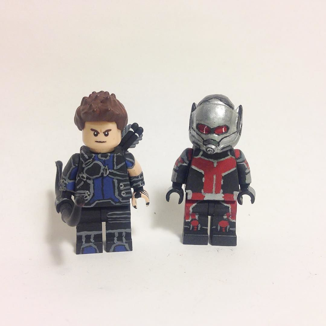 Custom Civil War Ant Man And Hawkeye For Jerdfigs500