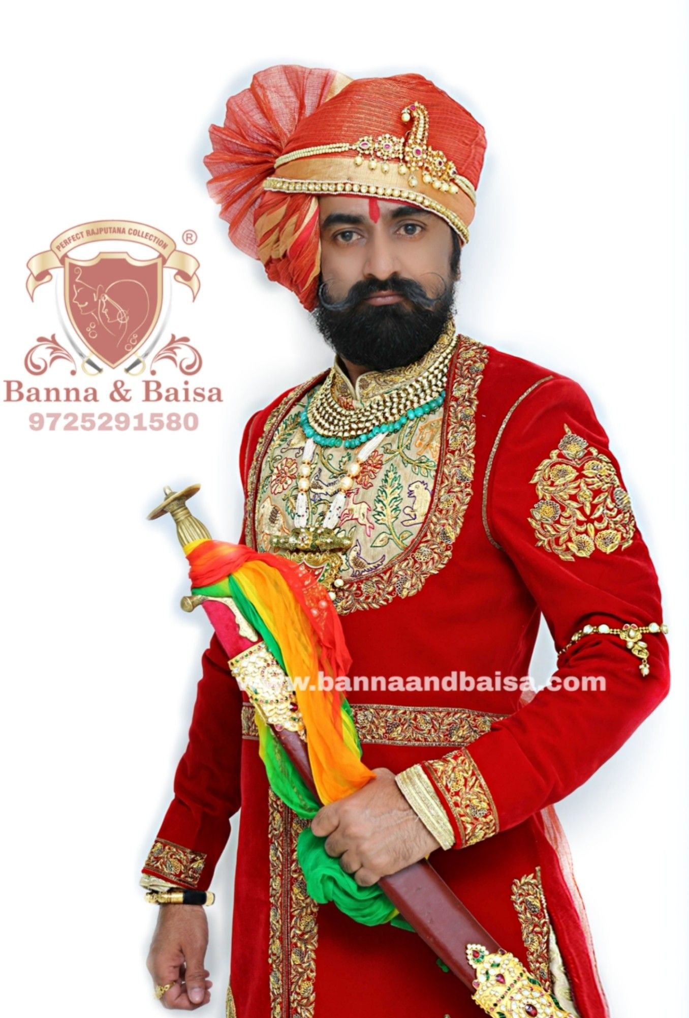 Red Angrakha At Original Banna And Baisa Ahmedabad Register Trademark Humari Dusri Koi Branch Nahi H Rajputip Indian Designer Wear Kurta Designs Wedding Shots